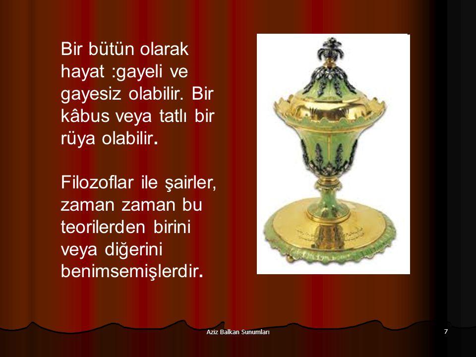 Aziz Balkan Sunumları 108 İ ki temel sıkıntı vardır.