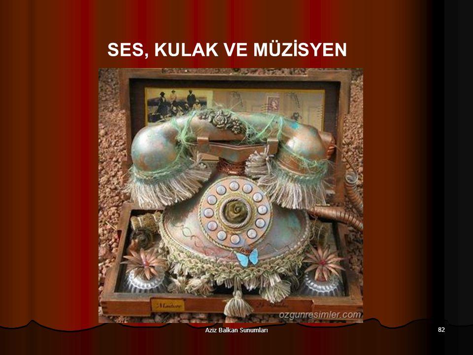 Aziz Balkan Sunumları 82 SES, KULAK VE MÜZİSYEN
