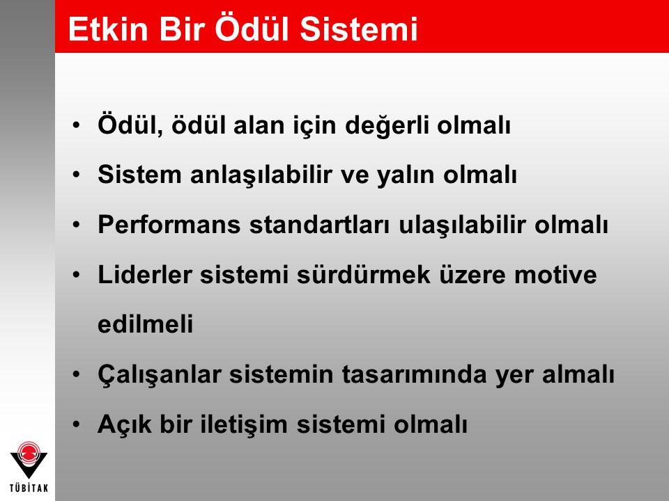 Ödül, ödül alan için değerli olmalı Sistem anlaşılabilir ve yalın olmalı Performans standartları ulaşılabilir olmalı Liderler sistemi sürdürmek üzere