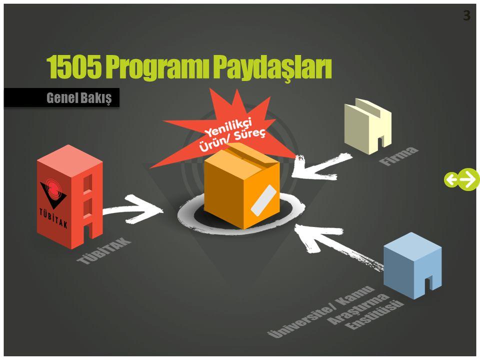 3 1505 Programı Paydaşları Genel Bakış