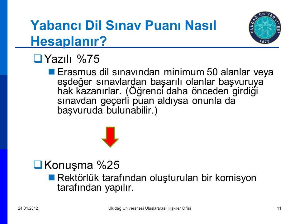 Yabancı Dil Sınav Puanı Nasıl Hesaplanır.