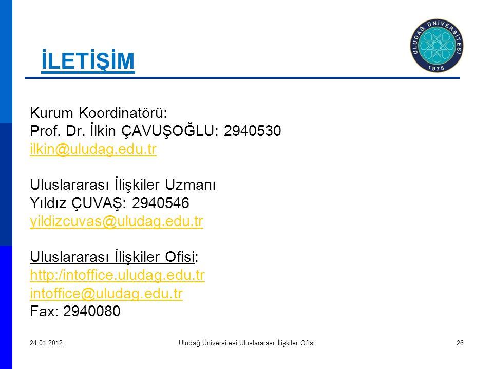 Kurum Koordinatörü: Prof.Dr.
