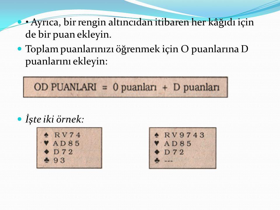 İşte iki örnek: Soldaki eli kurala göre 1 Trefl ile açın.