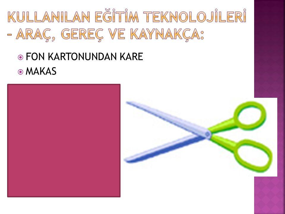  FON KARTONUNDAN KARE  MAKAS