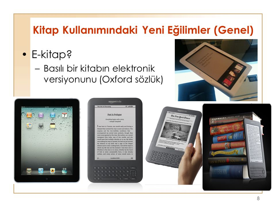 8 E-kitap.