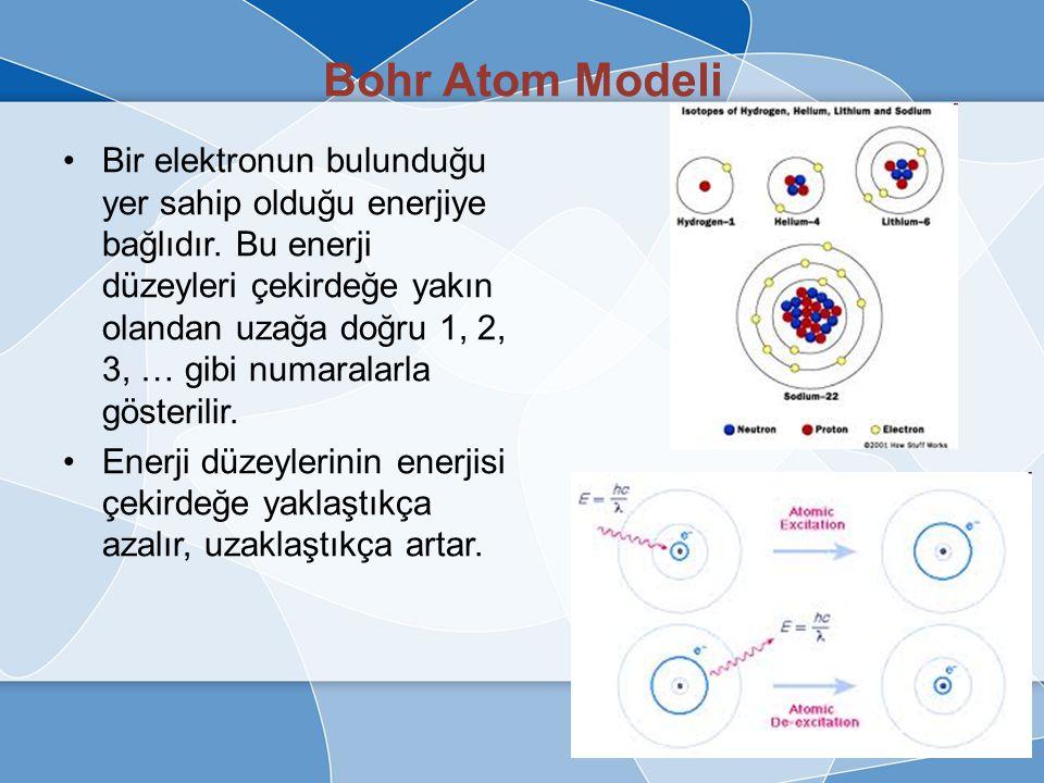 Bohr Atom Modeli Elektronun neden çekirdeğe düşmediğine cevap Niels Bohr'dan gelmiştir. Elektronların çekirdekten herhangi bir uzaklıkta tek bir yörün