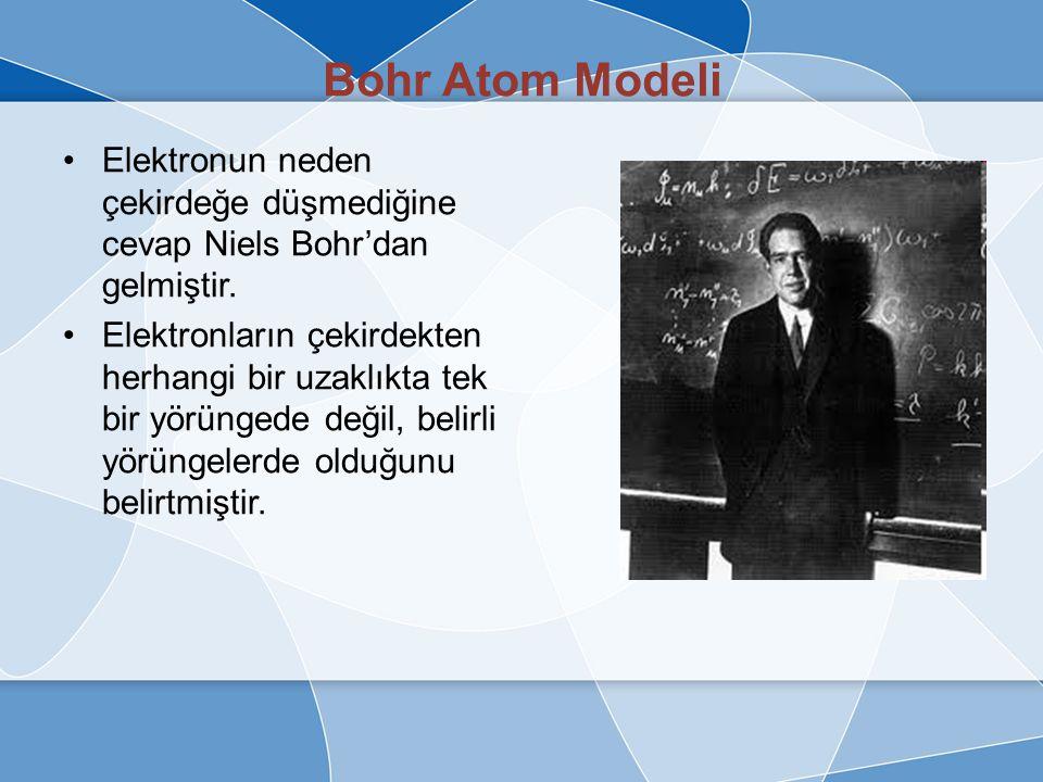 Rutherford Atom Modeli Ernest çalışmalarında atomun boşluklu yapıda olduğunu ve kütlesinin çoğunun çekirdek adı verilen bir yerde yoğunlaştığını gösterdi.