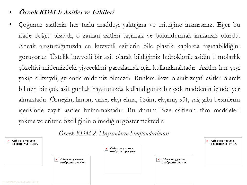 Örnek KDM 1: Asitler ve Etkileri Çoğunuz asitlerin her türlü maddeyi yaktığına ve erittiğine inanırsınız.