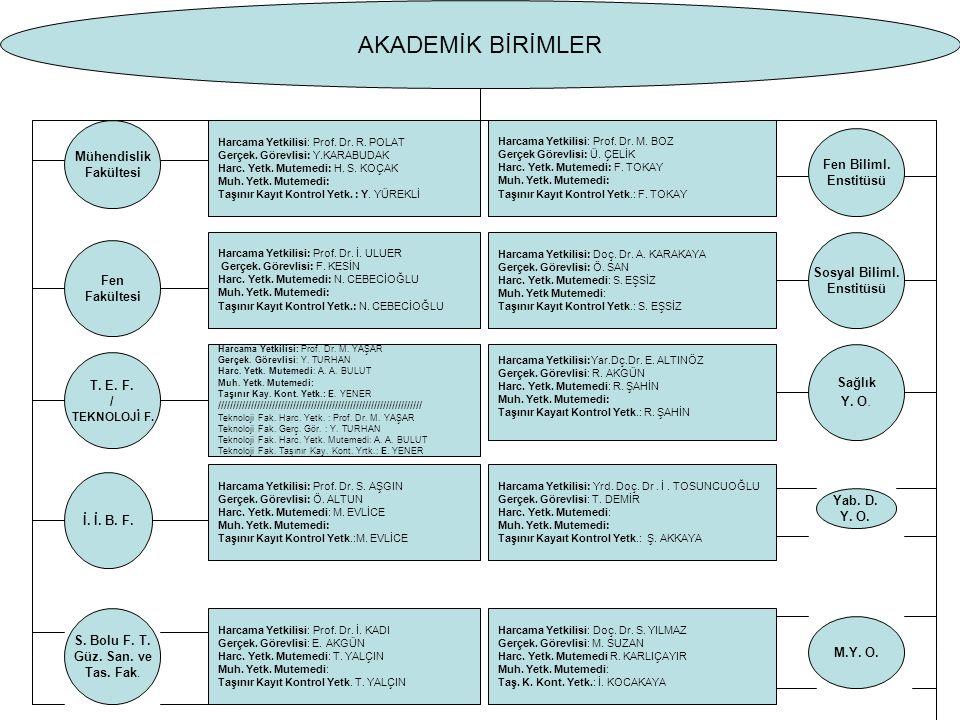 Mühendislik Fakültesi Harcama Yetkilisi: Prof. Dr.