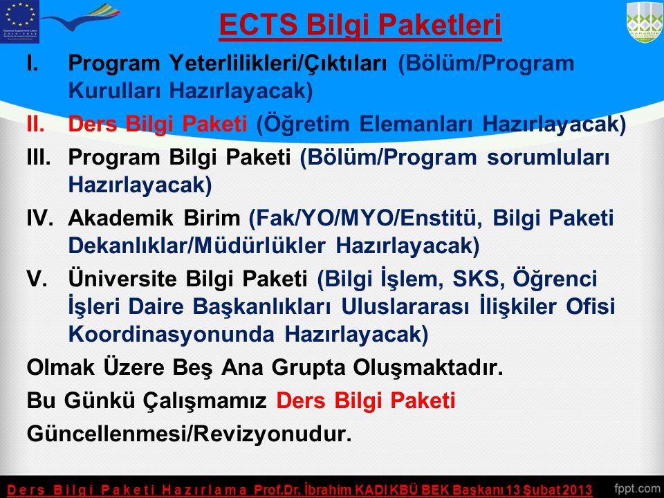 Bilgi Paketleri  ECTS Bilgi Paketi (YOBSİS) Ve Öğrenci Otomasyonu Yazılımı Ayrı Platformlarda Çalışmaktadır. Platformlar Arasında Veri Aktarımı Senkr