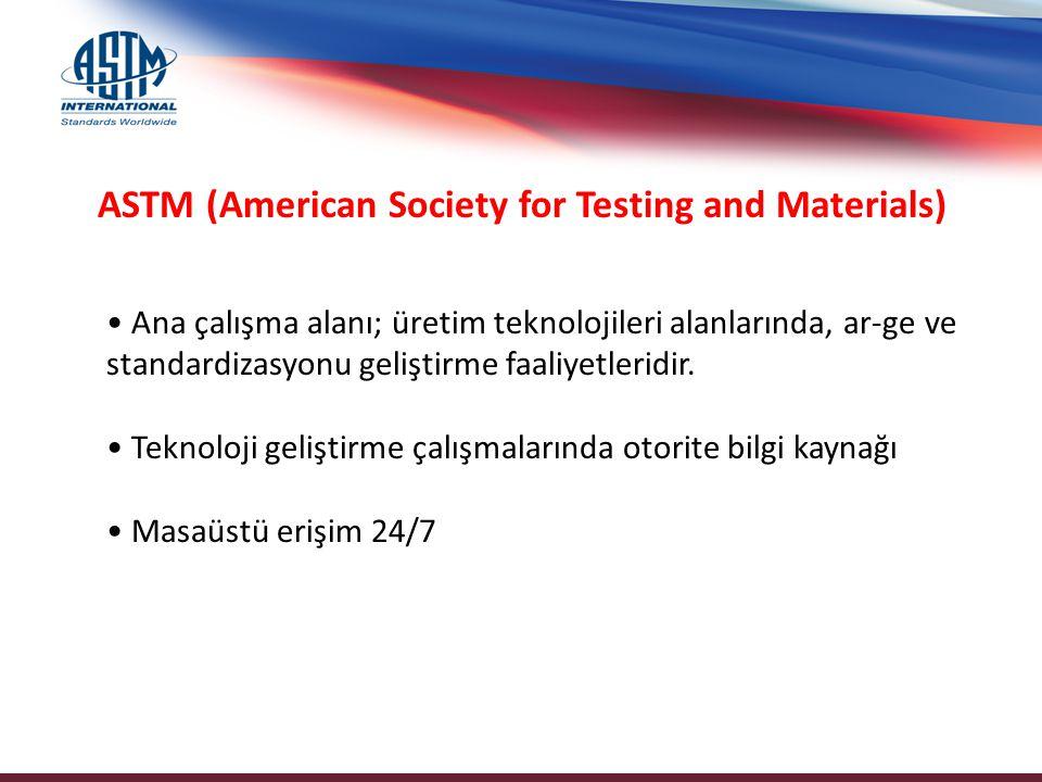 Konsorsiyum İçeriği ASTM Digital Library IHS Standards Expert - ASTM Standards