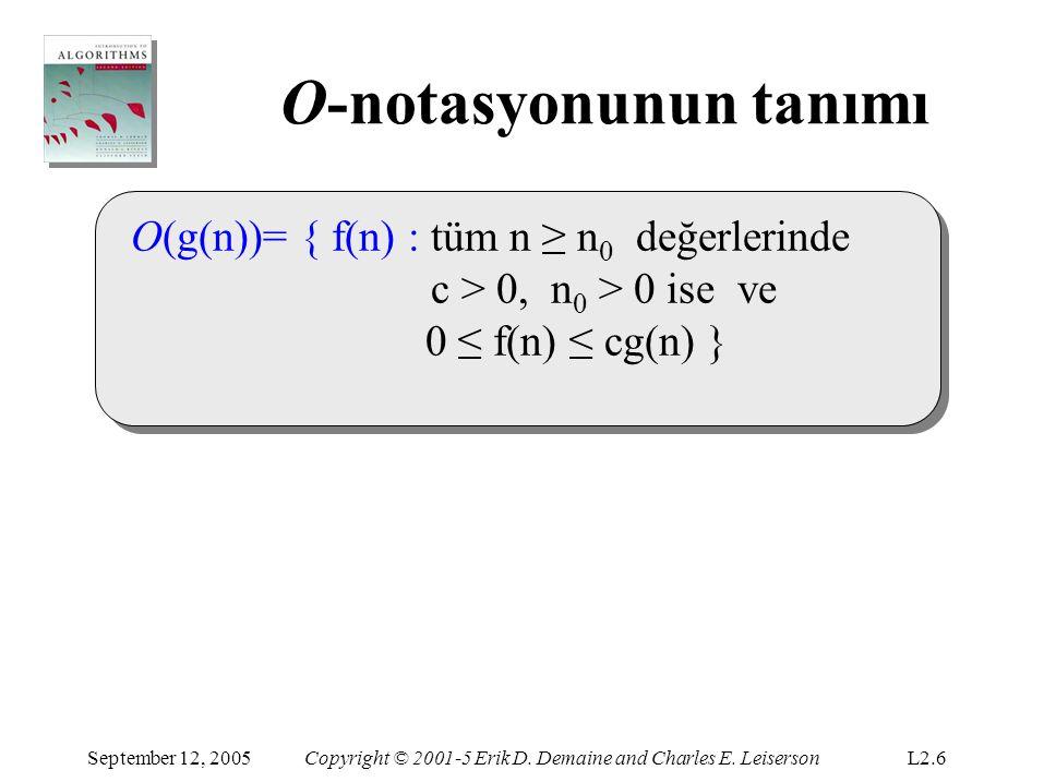 O-notasyonunun tanımı September 12, 2005Copyright © 2001-5 Erik D.