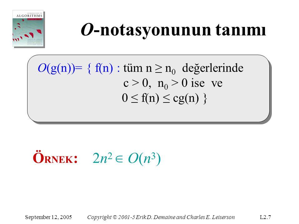 Ω-notasyonu (alt sınırlar) September 12, 2005Copyright © 2001-5 Erik D.