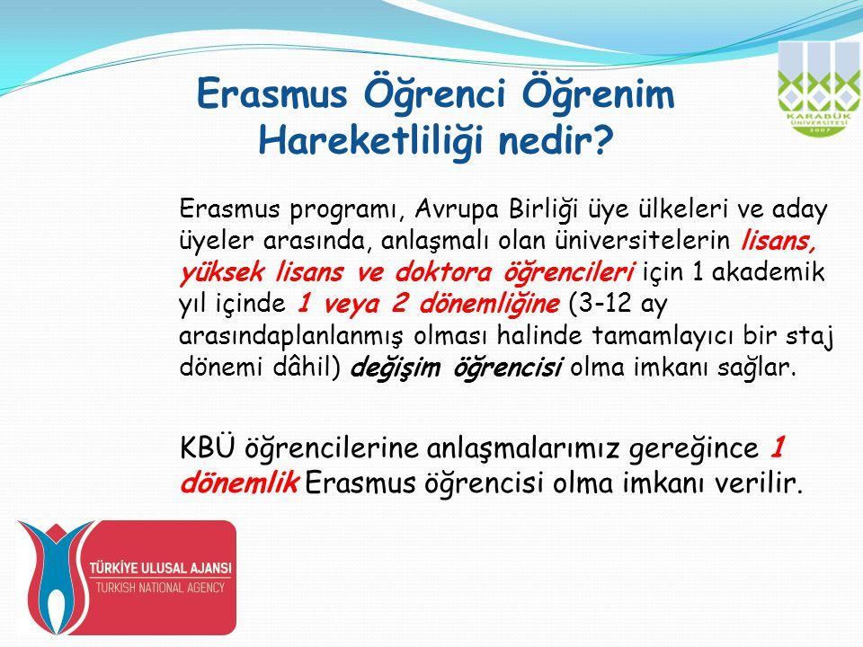 Erasmus Öğrenci Öğrenim Hareketliliği nedir.