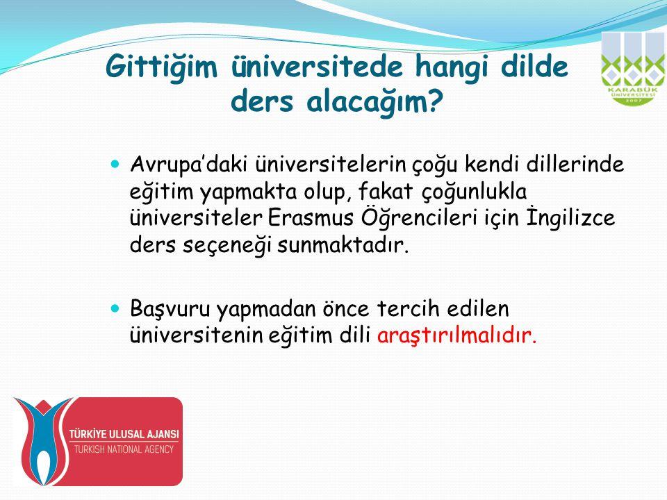 Gittiğim üniversitede hangi dilde ders alacağım.