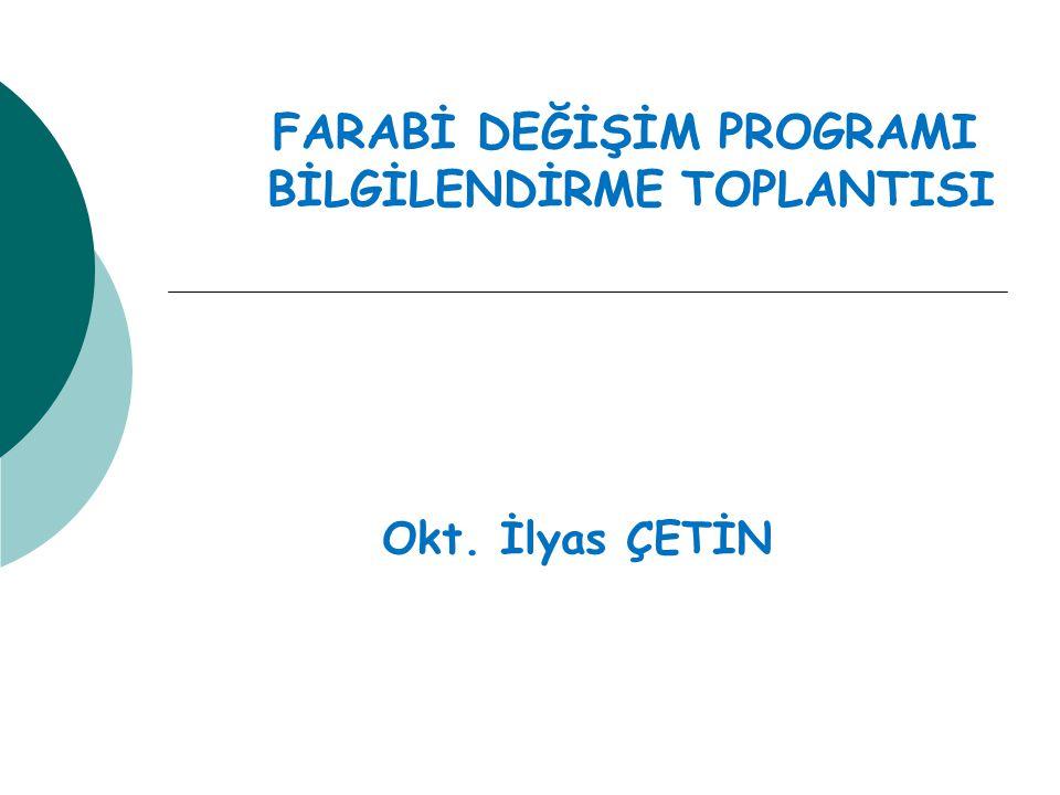 FARABİ DEĞİŞİM PROGRAMI BİLGİLENDİRME TOPLANTISI Okt. İlyas ÇETİN