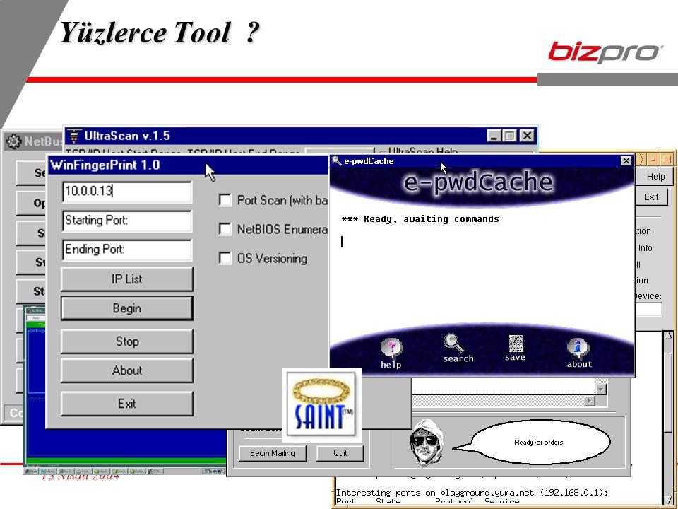 8 13 Nisan 2004 Yüzlerce Tool ? Connected to www.test.com www.test.com