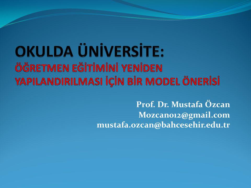 Prof. Dr. Mustafa Özcan Mozcan012@gmail.com mustafa.ozcan@bahcesehir.edu.tr
