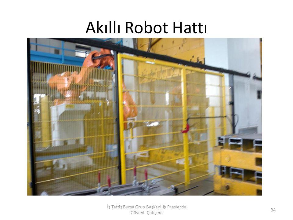 Akıllı Robot Hattı İş Teftiş Bursa Grup Başkanlığı Preslerde Güvenli Çalışma 34