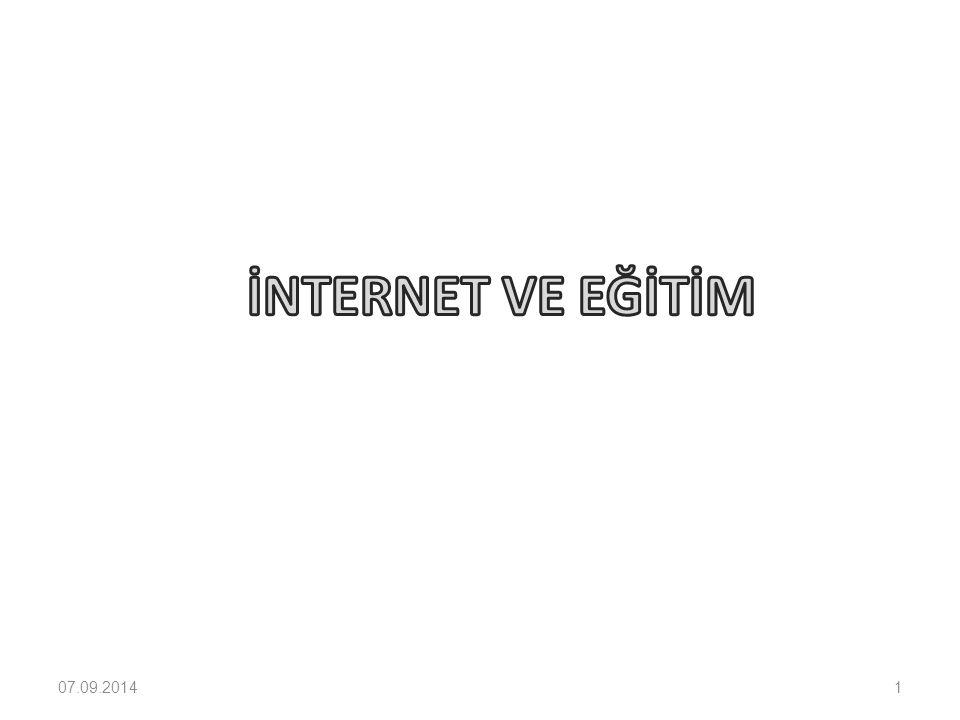 İnternet ve Eğitim EĞİTİM PROGRAMLARININ YENİLENMESİ 1.