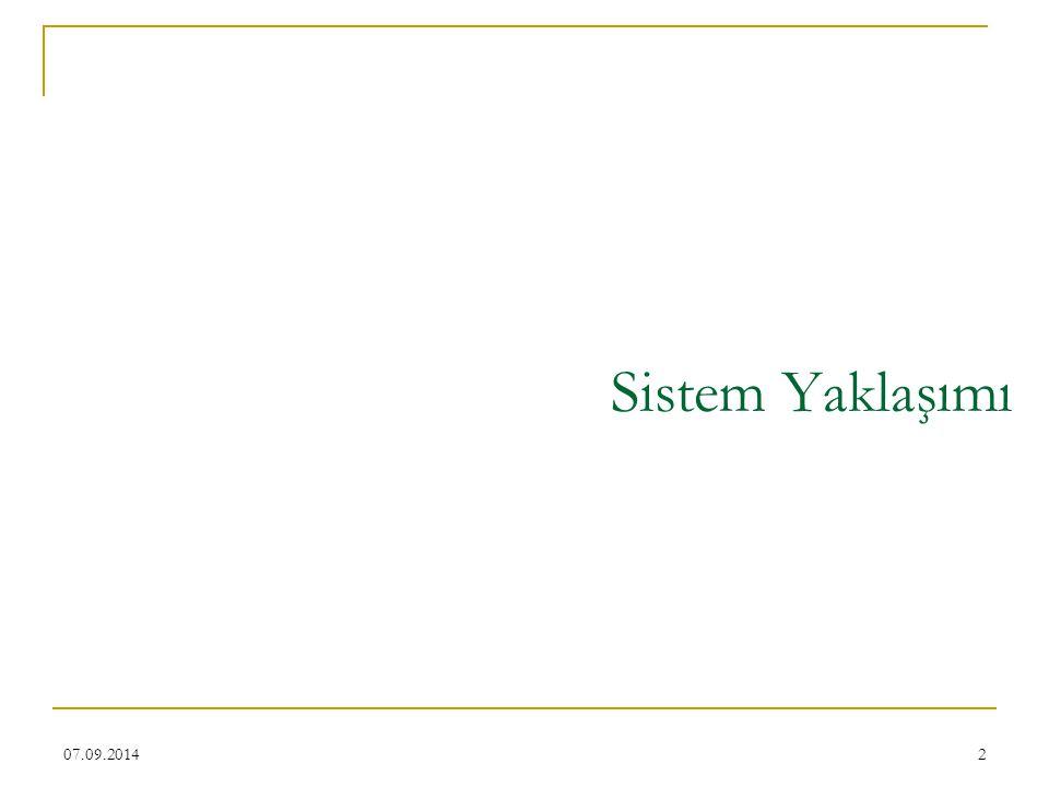 2 Sistem Yaklaşımı 07.09.2014