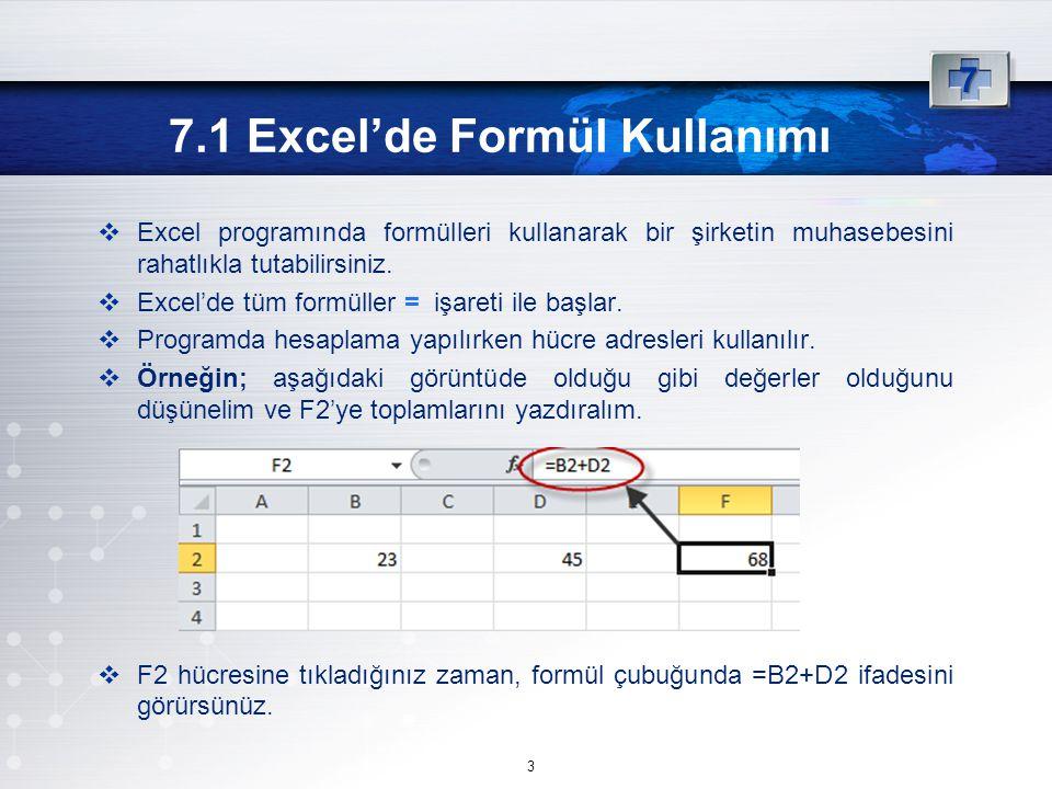 Excel programında formülleri kullanarak bir şirketin muhasebesini rahatlıkla tutabilirsiniz.