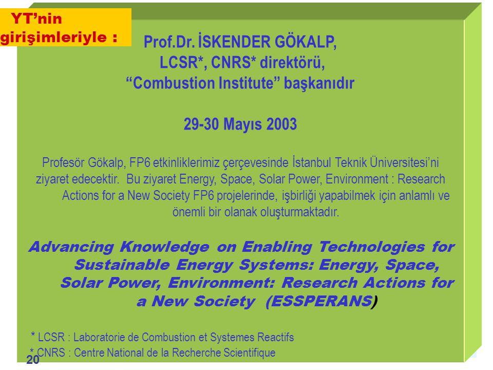 1.Ulusal Mühendislik Kongresi, İzmir, Foça / 20-21 Mayıs 2004 Prof.Dr.