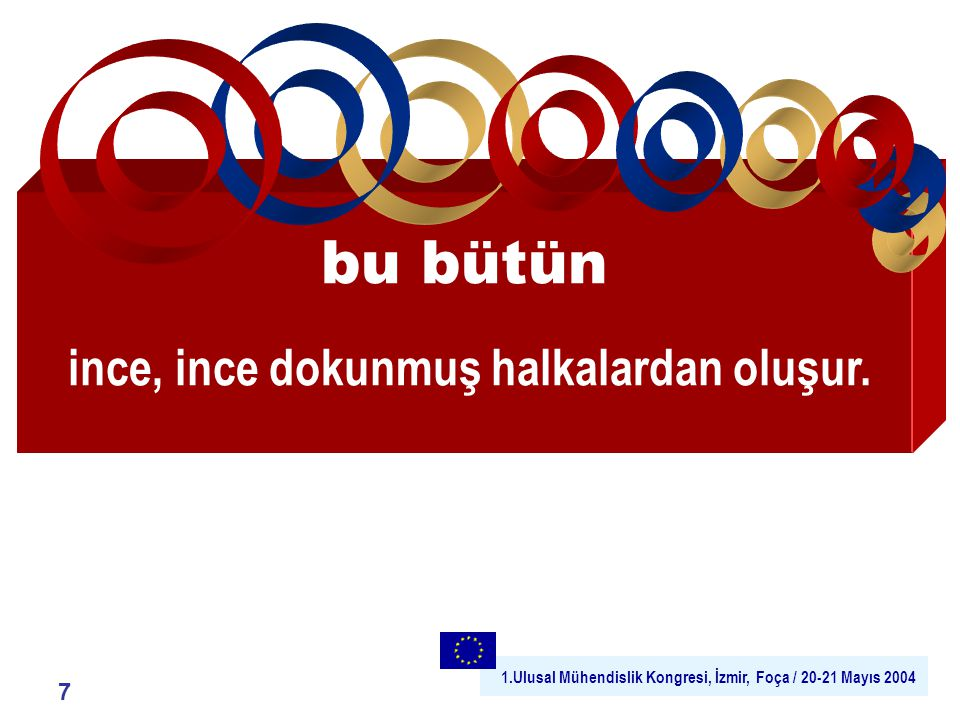 1.Ulusal Mühendislik Kongresi, İzmir, Foça / 20-21 Mayıs 2004 17 As part of the conference (Hamburg, 29-31 January 2001) over 130 Matchmaking Events between SMEs and major aeronautic companies took place, co-ordinated by the AECMA AeroSME Project and the Aeroforum Project.