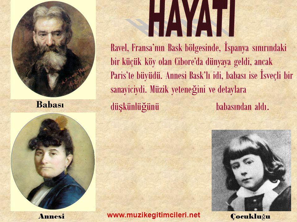 Ravel'in en bilinen orkestra eseri İspanyol Rapsodisi'dir.