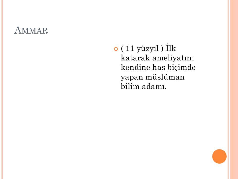 İ BNI S INA ( 980 - 1037 ) Doktorların sultanı.
