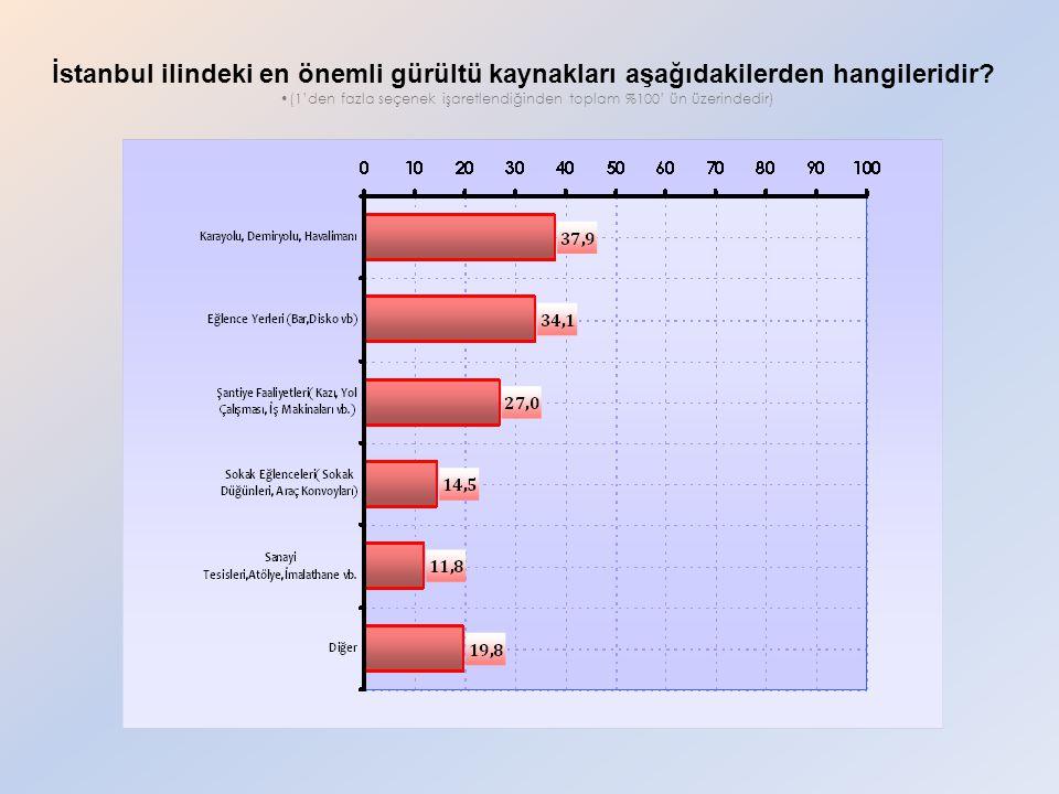 İstanbul ilindeki en önemli gürültü kaynakları aşağıdakilerden hangileridir.