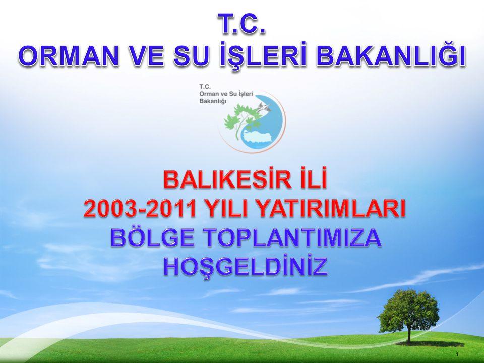 12 179 tesisin toplam yatırım maliyeti 824.359.566 TL'dir. 28.12.2011 - Ankara