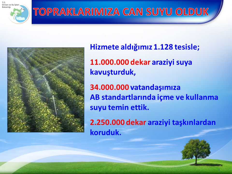 TAMAMLANAN SULAMA TESİSLERİ (4 ADET) 1.