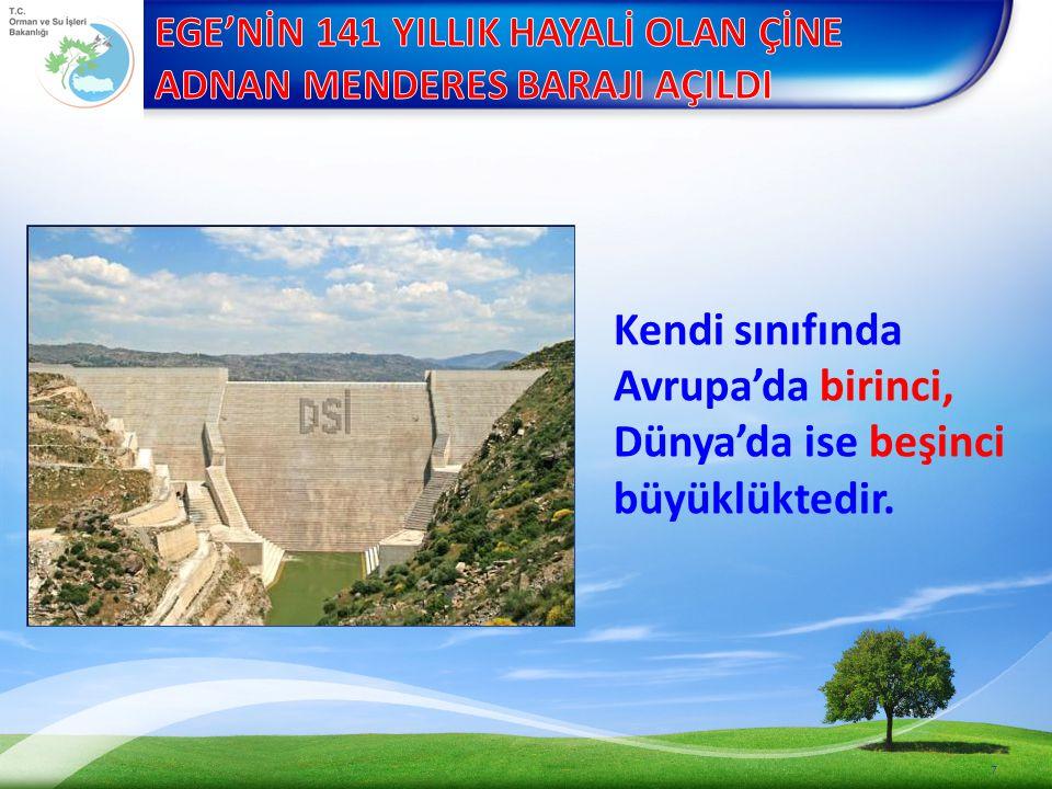 8 Ege'nin en büyük, Türkiye'nin 6. büyük barajını açtık.