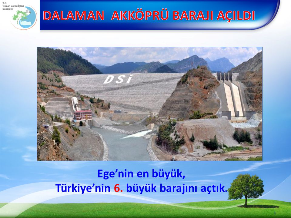 GÖL-SU PROJELERİ (42 ADET) 49 SIRA NO İŞİN ADI SULAMA ALANI (dekar) DURUMU 21 Merkez Düzoba Göleti ve Sulaması - Proje Yapım İşi Devam Etmektedir.
