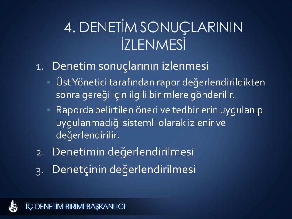 4. DENETİM SONUÇLARININ İZLENMESİ 1.