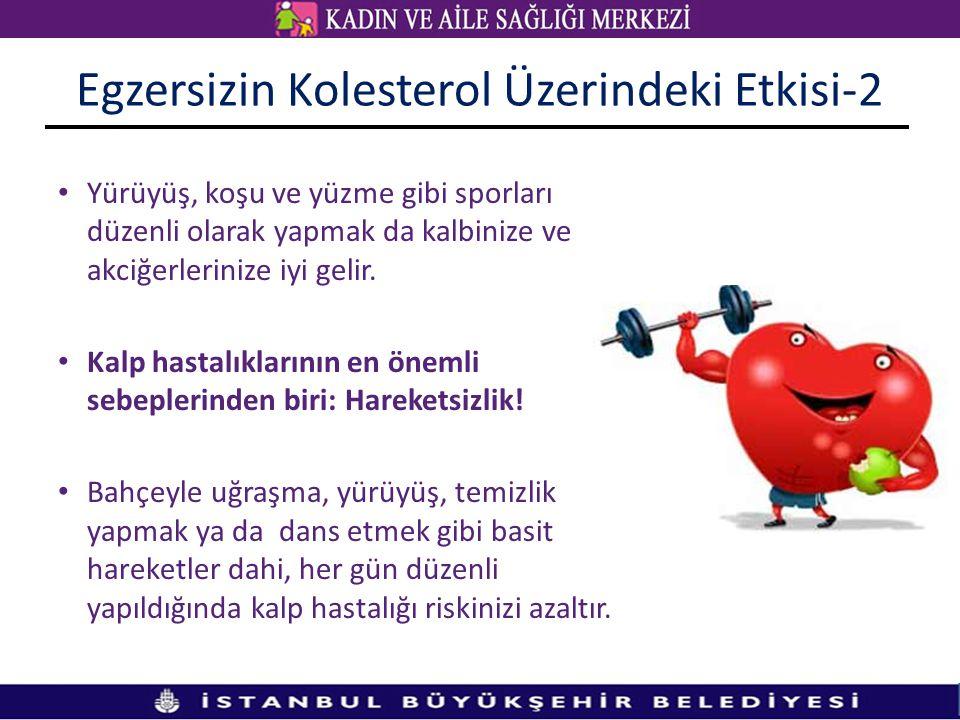 Egzersizin Kolesterol Üzerindeki Etkisi-2 Yürüyüş, koşu ve yüzme gibi sporları düzenli olarak yapmak da kalbinize ve akciğerlerinize iyi gelir.