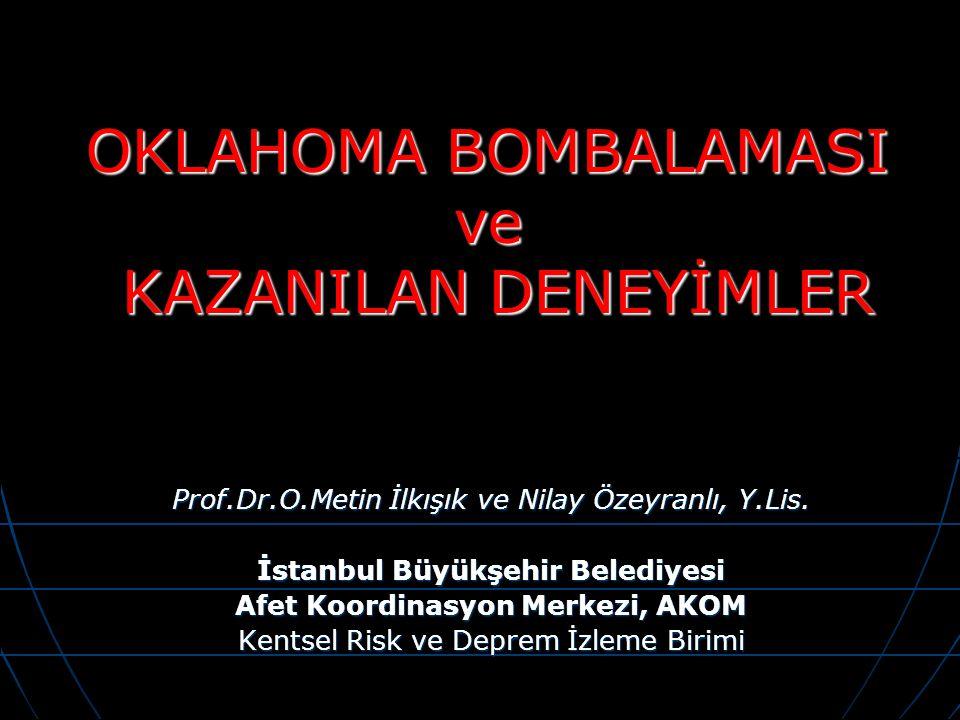 Prof.Dr.O.Metin İlkışık ve Nilay Özeyranlı, Y.Lis. İstanbul Büyükşehir Belediyesi Afet Koordinasyon Merkezi, AKOM Kentsel Risk ve Deprem İzleme Birimi