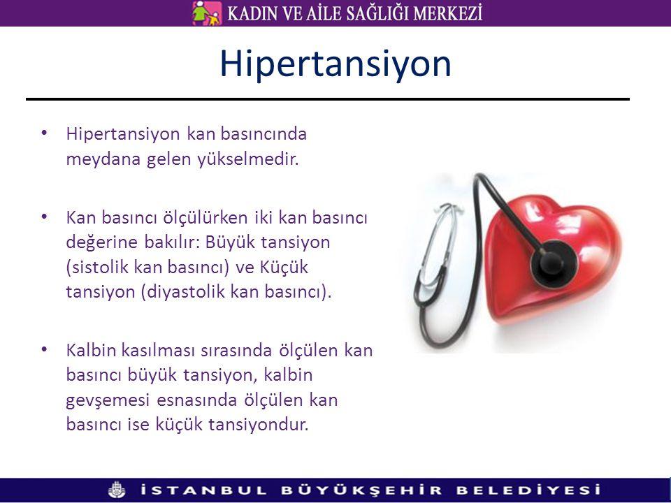 Hipertansiyon Hipertansiyon kan basıncında meydana gelen yükselmedir.