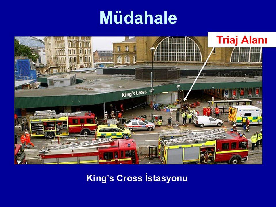 Müdahale King's Cross İstasyonu Triaj Alanı