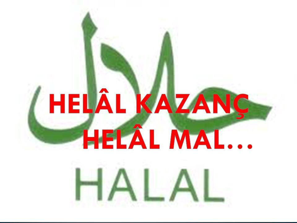 HELAL :Dinen yapılması veya yenip içilmesi yasaklanmayan, serbest bırakılan şey demektir.