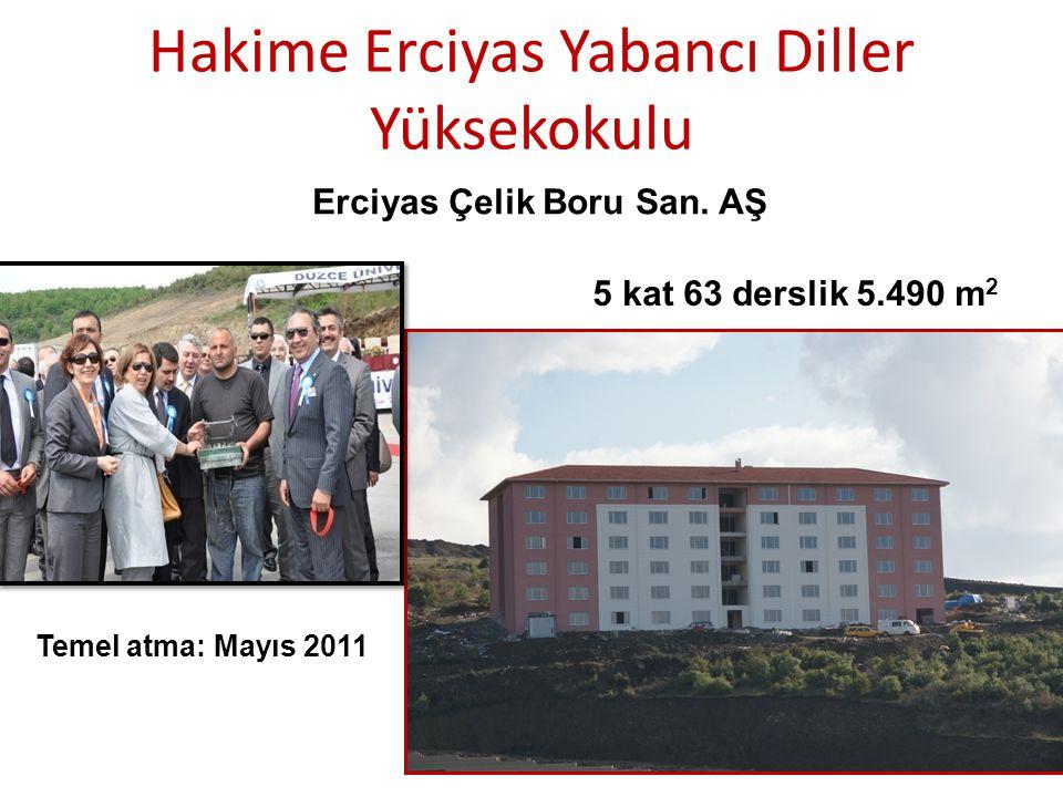 Hakime Erciyas Yabancı Diller Yüksekokulu Erciyas Çelik Boru San.