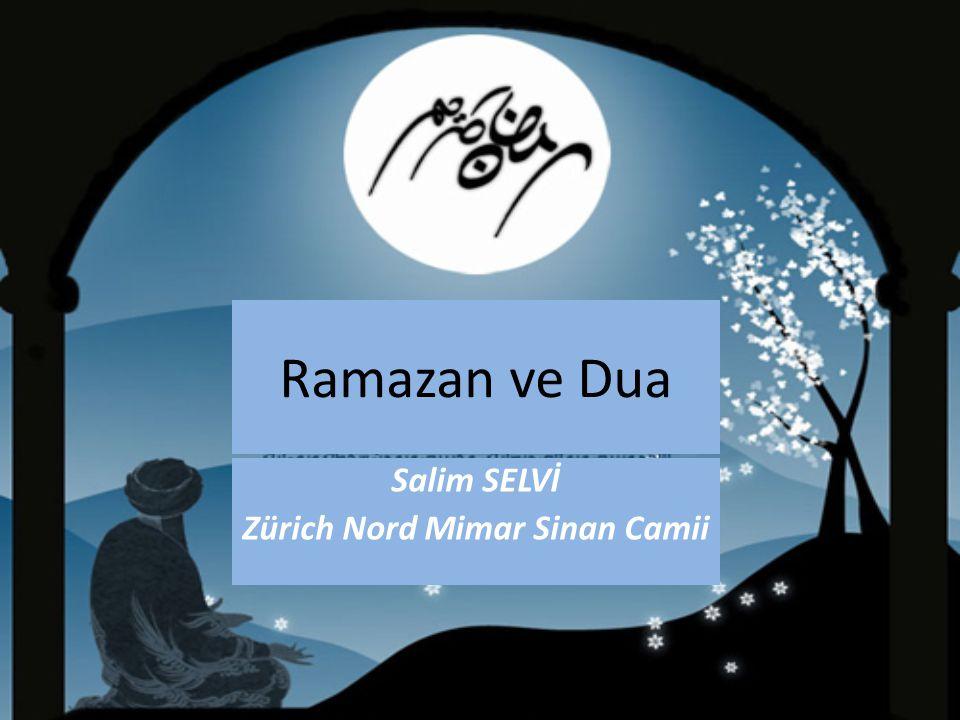 Ramazan ve Dua Salim SELVİ Zürich Nord Mimar Sinan Camii