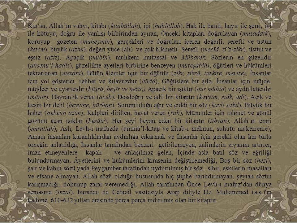 Kur'anı Kerim göklere, dağlara, taşlara değil insana inmiştir.