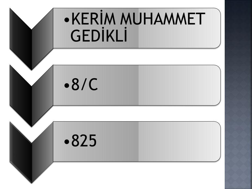 KERİM MUHAMMET GEDİKLİ 8/C825
