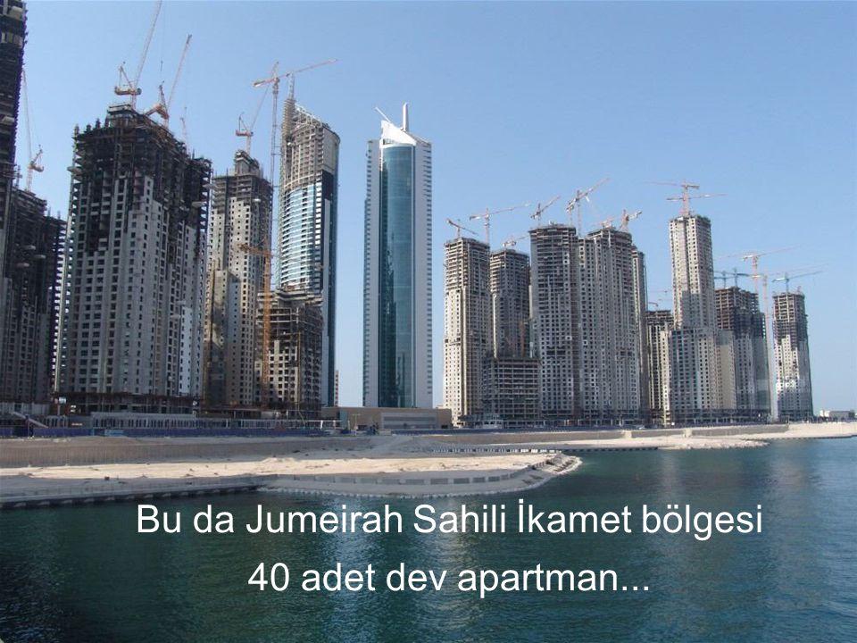 Bu da Jumeirah Sahili İkamet bölgesi 40 adet dev apartman...