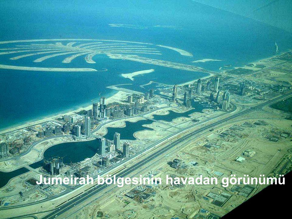 Jumeirah bölgesinin havadan görünümü