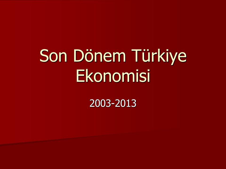 Son Dönem Türkiye Ekonomisi 2003-2013