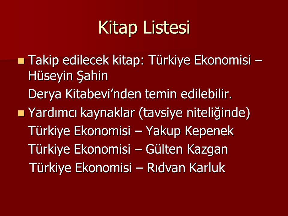 Kitap Listesi Takip edilecek kitap: Türkiye Ekonomisi – Hüseyin Şahin Takip edilecek kitap: Türkiye Ekonomisi – Hüseyin Şahin Derya Kitabevi'nden temi