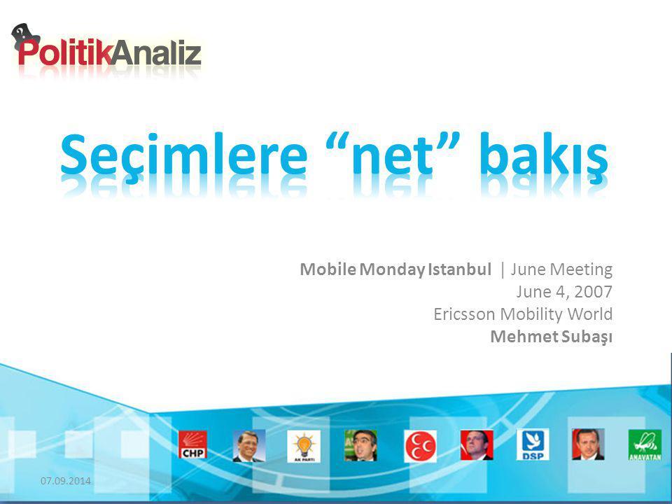 07.09.2014 Mobile Monday Istanbul | June Meeting June 4, 2007 Ericsson Mobility World Mehmet Subaşı